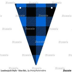 Lumberjack Style - blue fabric + your ideas Bunting Flags