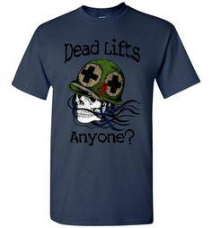 Dead Lifts Skull Gym Shirt