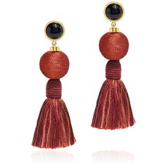 Lizzie Fortunato - Modern Craft Fringe Tassel Earrings (2.638.740 IDR) ❤ liked on Polyvore featuring jewelry, earrings, accessories, red, tri color earrings, fringe tassel earrings, red drop earrings, multi color earrings and beaded tassel earrings