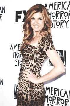 I would like her hair& her dress please. (not a fan of animal print. but she can totally rock it. Connie Britton, Girl Celebrities, Skin Treatments, Makeup Inspiration, Her Hair, Curls, Makeup Looks, Eye Candy, Hair Makeup