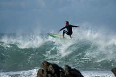Surfing at Wildside, PE