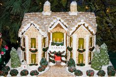 This gingerbread house is obviously where the reindeer go to play. Description from bustle.com. I searched for this on bing.com/images