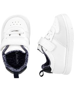 Carter's Every Step Slip-On Sneakers | carters.com Toddler Boy Shoes, Baby Boy Shoes, Toddler Outfits, Baby Boy Outfits, Slip On Sneakers, Casual Sneakers, Baby Boy Accessories, Boys Dress Shoes, Newborn Shoes