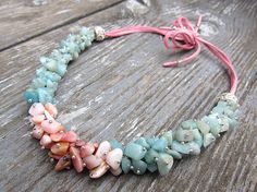 Statement necklaces / choker necklace / amazonite choker / fine jewelry / cool necklaces / latest jewellery designs / opal necklaces / mint