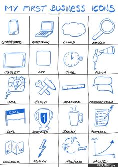 Your visual business sketchnotes Visual Note Taking, Note Taking Tips, Sketch Icon, Sketch Notes, Notes Template, Templates, Visual Thinking, Note Doodles, Typo Logo