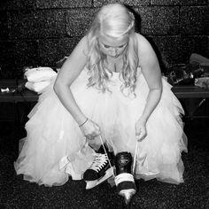 I loved my Hockey Wedding. Ice skates and all.