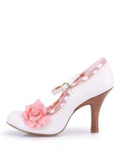 eaf545c083a Ruby Shoo - Krémové boty na podpatku s oranžovou květinou Poppy - 1 Vlčí  Máky
