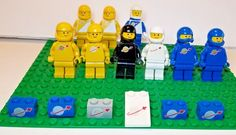 *NEW* Lego Aqua Blue Head Bows Friends Minifigs Figures Figs 6 pieces