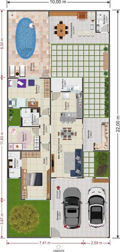 Welcome to California Dream Houses Modern House Floor Plans, Bungalow House Plans, Contemporary House Plans, Dream House Plans, Dream Houses, Bungalow Haus Design, House Design, House Construction Plan, Model House Plan