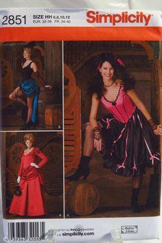 Simplicity 2851 Misses' Costume