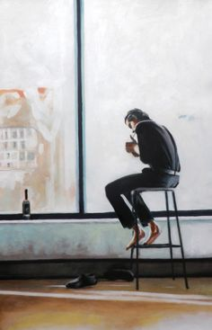 The Loner 110/75cm oil on canvas  Thomas Saliot