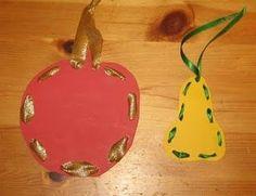 :) Christmas Bulbs, Fall, Autumn, Fruit, Holiday Decor, Kids, Minden, Kindergarten, Apple