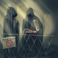 Image result for welcome to night vale dog park. Big Rico's Pizza and the Hooded Figures #DogTumblr