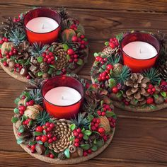 In this DIY tutorial, we will show you how to make Christmas decorations for your home. The video consists of 23 Christmas craft ideas. Christmas Advent Wreath, Christmas Candle Decorations, Holiday Centerpieces, Noel Christmas, Simple Christmas, Handmade Christmas Crafts, Christmas Projects, Diy Weihnachten, Christmas Home Decorating