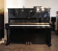 A 1991, Yamaha U30A upright piano with a black case and polyester finish at Besbrode Pianos £4995. Piano features a fitted Disklavier MX100 player system. Piano can be used as a player system, to sit back and enjoy the music. System can also be used to record oneself. Record mode captures MIDI for playback on the acoustic piano. Even the most delicate nuances of touch, from pianissimo to fortissimo, are faithfully recorded and reproduced ensuring faithful sound reproduction. During…