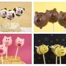 Animal Cake Pops {Cows, Pigs, Bears, and Bumble Bees} | MISS CANDIQUIK