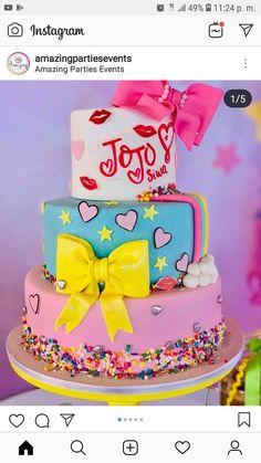 Alanas cakes Jojo Siwa Birthday Cake, 4th Birthday Cakes, 8th Birthday, Disco Birthday Party, 7th Birthday Party Ideas, Buttercream Birthday Cake, Mickey Cakes, Cake Name, Girl Cakes