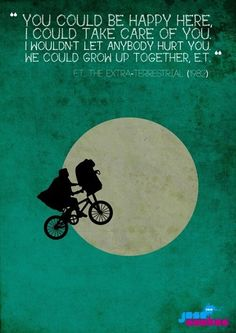Awwww but then E.T. leaves with his squashy family and I cry my eyes out.