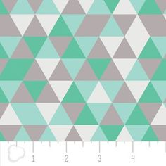 Camelot Cottons House Designer - Elixir - Triangles in Mint