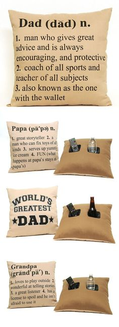 #Dad #Papa #Grandpa Definition Double Pocket Throw Pillow - #fathersday ~~ It's a Papa for me ;-)