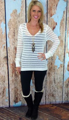 Light Layers Sweater: Ivory