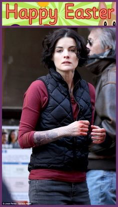"""You know that in this #modern #world #anyone can be very #famous due to its #style and #looks.A #Well known #Hollywood #Actress #JaimieAlexander was #caught at the #shoot of #TVShow """"Blind Spot"""" somewhere in #Manhattan #ChinaTown #area ."""