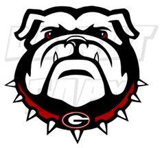 Georgia Bulldog Face - vinyl decal