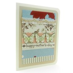 Mothers Day Card  Handmade  Butterflies by EmbellishbyJackie, $6.00