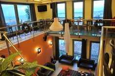 Lounge and reception area of #Amfitriti #Palazzo Hotel in #Nafplio