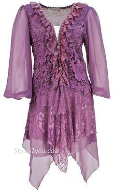 70e507d195a57 Luella Tunic in Mauve Pretty Angel Clothing