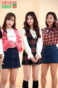 Twice-Mina & Sana & Jihyo Korea Fashion, Kpop Fashion, Daily Fashion, Fashion Outfits, Kpop Girl Groups, Korean Girl Groups, Kpop Girls, Nayeon, Estilo Geek