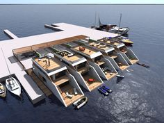 Floating tiny houses.