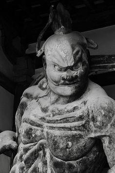 The Oriental Statue ''KONGORIKISHI''   Horyuji-temple #japan #nara