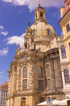 Frauenkirche. Dresden, Germany. The church measures 164-ft long, 134-ft wide.