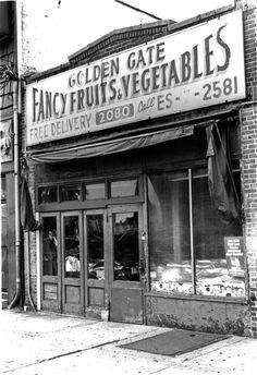 """Golden Gate Fancy Fruits & Vegetables."" Flatbush Ave. Brooklyn."
