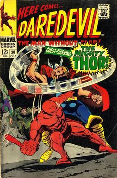 Daredevil #30 (July '67) cover by Gene Colan & John Tartaglione. #Thor #Cobra #MrHyde