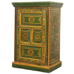 Painted-Vine-Poppy-Small-Cupboard-2