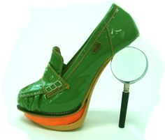 Not only with the double-sole, but fragile heel-fixin's.  Yikes.  [Artistic shoes by Kyumbie #amazingshoes #awesomeshoes]
