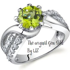 'Genuine Peridot .925 Silver Ring - Size 5,6,7,8 or 9' is going up for auction at  6am Thu, Aug 9 with a starting bid of $1.