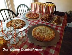 Our Family Inspired Home: Pizza Parlor Movie Night Birthday Party, Boy Party, Girl Party, Teenage Party