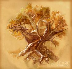 ship sketch picture | Ship Wreck In A Tree Sketch Drawing - Ship Wreck In A Tree Sketch Fine ...