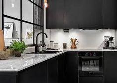 Afbeeldingsresultaat voor zwarte keuken