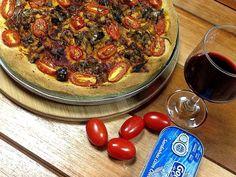 Pizza alta de sardinha :: Pimenta na cozinha