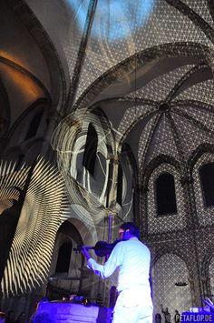 Peter Schildwächter Light Art, St. Aposteln, Cologne. #LightArt #ProjectionArt #Illumination #LightArtist Lights Artist, Illumination Art, Light Architecture, Light Art, More Photos, Corporate Events, Art Gallery, Museum, Building