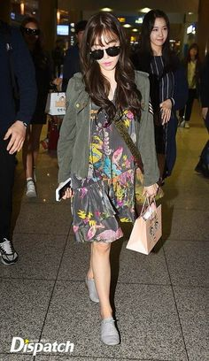 [150413] Tiffany at Incheon Airport from the Philippines
