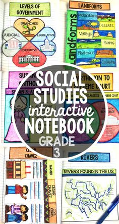 This social studies interactive notebook for third grade is perfect for your classroom and activities. Bring common core and learning to your students with these fun classroom templates.