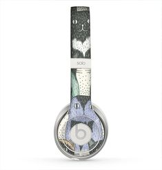 The Vintage Cat portrait Skin for the Beats by Dre Solo 2 Headphones from Design Skinz, INC.