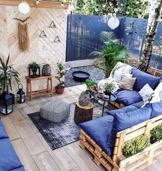 My kind of lounge 🛋🌿😍 (📷 Ann Flanigan.living) - My kind of lounge 🛋🌿😍 (📷 Ann Flanigan. Small Balcony Decor, Balcony Design, Small Patio, Outdoor Rooms, Outdoor Living, Outdoor Decor, Outdoor Areas, Outdoor Lounge, Pallet Furniture
