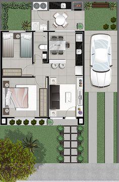Duplex House Plans, My House Plans, Apartment Floor Plans, Small House Plans, Home Building Design, Home Design Plans, Building A House, Bungalow House Design, Modern House Design