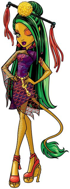 Monster High: Jinafire Long! Jinafire Long is a dragon from Fanghai, China. She is an aspiring fashion designer who takes her craft very seriously, and tends to lose her temper easily.
